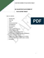 Film Coated Tablet Process Validation Scheme