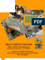 Multi Arts Center Fall Schedule 2012