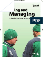 Sport NI Planning and Managing a Mentoring Programme