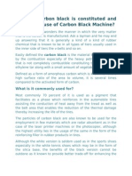 How the Carbon Black is Constituted and What is the Use of Carbon Black Machine
