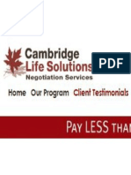 Cambridge Life Solutions-Debt Consolidations