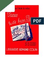 Langue Française Lecture courante Paris notre beau Paris 1967