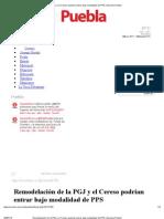 27-07-2012 Remodelación de la PGJ y el Cereso podrían entrar bajo modalidad de PPS - sexenio.com.mx