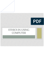 Ethics in Using Computer