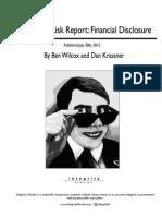 Integrity Florida - Corruption Risk Report - Financial Disclosure
