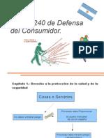 Defensa del consumidor Ley 24.240