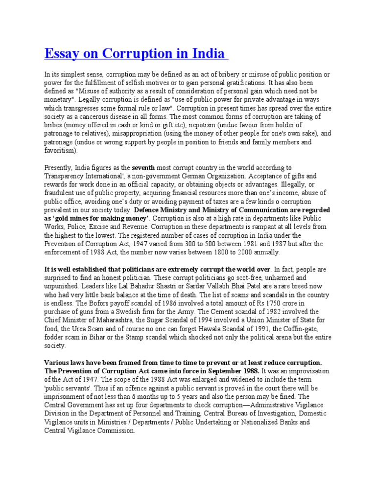fallen societies political corruption essay Short essay on political corruption military officials have fallen to the evil of corruption short essay on corruption away at the essays of our society.
