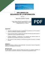 PONTIFICIA UNIVERSIDAD JAVERIANA.. FACULTAD DE INGENIERÍA DE SISTEMAS.  Diplomado Seguridad en La Informacion Ago28-2012