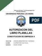 Autorizacion Del Libro Planillas
