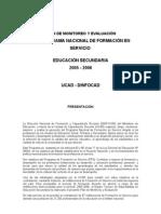 PLAN Monitoreo y Eval PFS 2005 2006