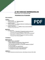 Vi Congreso de Ciencias Empresariales - Programa