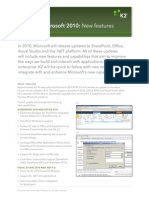 K2 and Microsoft 2010_features_screen