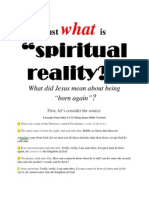 We Live in a Spiritual Reality!