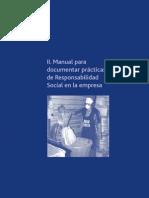 Manual para documentar prácticas de responsabilidad social en la empresa
