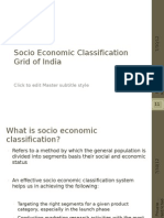 Socio Economic Classification System in India