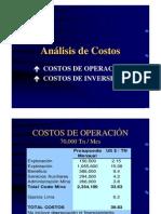 Analisis de Costos Operacion