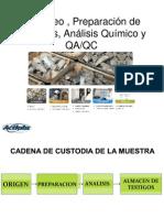 Muestreo , Preparación de Muestras y Análisis Quimico-2012