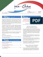 Kei Korea-chinaforum Newsletter v2