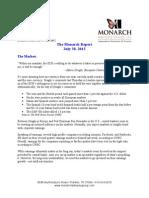 The Monarch Report 7-30-2012