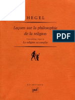 HEGEL Leçons sur la Philosophie de la Religion Berlin 1821 1831 Volume 3 LA RELIGION ACCOMPLIE Pierre Garniron Paris 2004