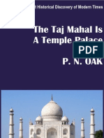 The Tajmahal is a Temple Palace