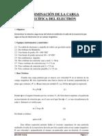 DETERMINACIÓN DE LA CARGA ESPECÍFICA DEL ELECTRÓN