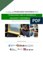 Feria de Tecnologias Sostenibles 2012