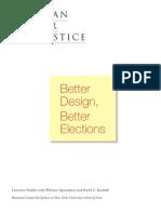 Better Design, Better Elections