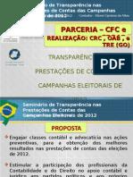 Prestacao de Contas Campanhas Eleitorais 2012.CRC GO