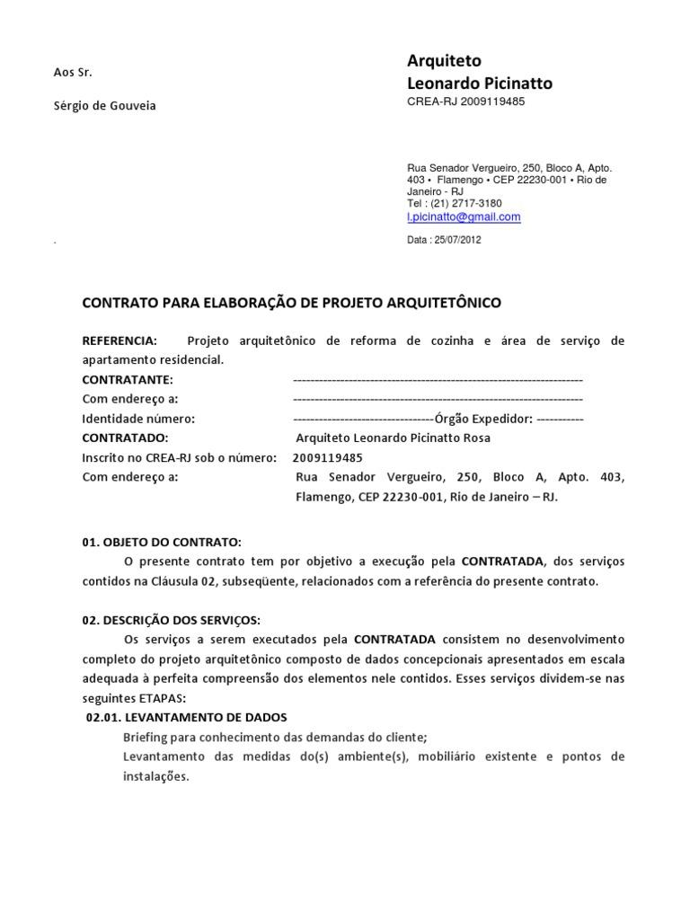 Proposta De Projeto De Arquitetura Interiores Lei Das Obrigacoes Projeto