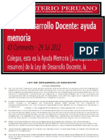 LEY DE DESARROLLO DOCENTE