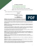 Ley General de Educación. Última versión 9 de abril 2012.