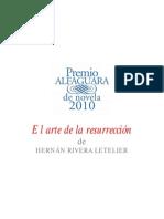 Principal Hernan Rivera Letelier Premio Alfaguara Novela 2010 Arte Resurreccion