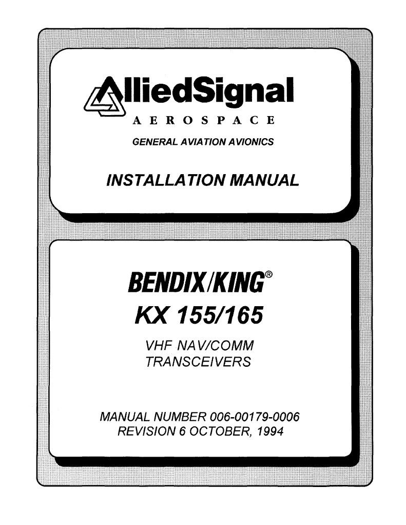 kx155 165 instalation rh es scribd com king kx 155 manual king kx 155 manual