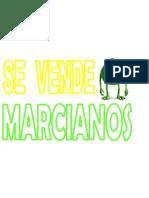 letrero marcianos
