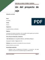 Planeación del proyecto de aprendizaje