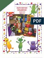 August Kid's Korner Newsletter