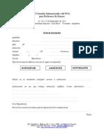 Fiche d'Inscription 2012 VI Jornadas Internacionales Del NOA