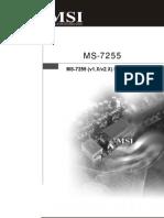 Manual MS-7255