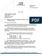 Letter to Wisconsin Department of Justice