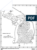 Outline Map of Michigan