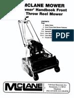 Mclane Mower Owners Handbook