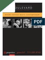 The Boulevard, 6830 N. Ashland, Brochure