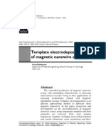 Template electrodeposition of magnetic nanowire arrays