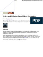 quick and effective facial