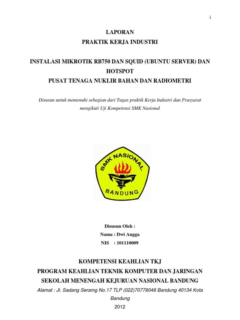 Download Laporan Pkl Smk Tkj