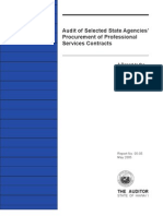 Audit, State Agencies' Procurement of Professional Services Contracts 2005
