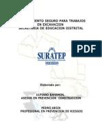 Procedimiento Tr. Excavacion Manual de Espacios Sed