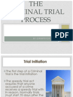 The Criminal Trial Process