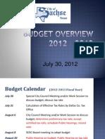 Overview Presentation 2013 July 30 Workshop